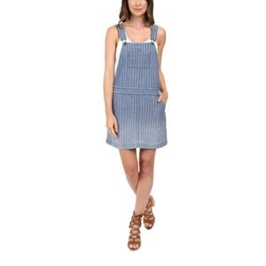 Splendid Oroya indigo ombré railroad overall dress